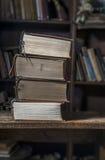 4 alte Bücher Lizenzfreie Stockfotos