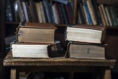 4 alte Bücher Stockfotografie
