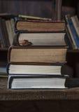 5 alte Bücher Stockfotografie