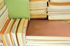Alte Bücher auf dem Gestell Lizenzfreies Stockfoto