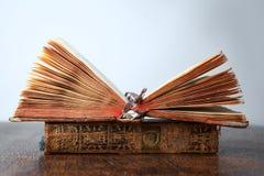 Alte Bücher auf der Tabelle Stockfotografie