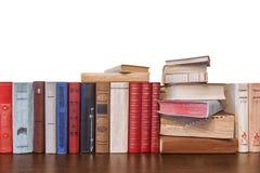 Alte Bücher auf einem weißen Hintergrund Lizenzfreies Stockbild