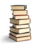 Alte Bücher auf Weiß Lizenzfreie Stockfotos