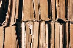Alte Bücher Beschaffenheit von alten Büchern, Abschluss oben Stockfoto