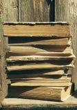 Alte Bücher Beschaffenheit von alten Büchern, Abschluss oben Lizenzfreies Stockfoto