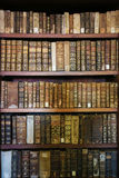Alte Bücher in der Bibliothek von Coimbra Stockbilder