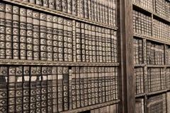 Alte Bücher in der Bibliothek von Stift Melk, Österreich. Lizenzfreie Stockfotos