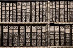 Alte Bücher in der Bibliothek von Stift Melk, Österreich. Stockfotos
