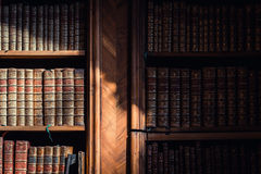 Alte Bücher in der Bibliothek von Wien Stockfoto