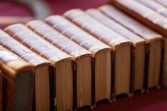 Alte Bücher an der Flohmarkt Stockfoto