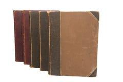 Alte Bücher der Gruppe Stockfotos