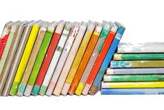 Alte Bücher der Kinder Stockfotos