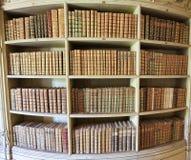 Alte Bücher in der Mafra-Palast-Bibliothek Stockfotografie