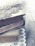 Alte Bücher in der Retro- Art Lizenzfreies Stockbild