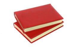 Alte Bücher der roten Farbe Stockbilder