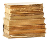 Alte Bücher der unterschiedlichen Form und der Farbe Stockbilder