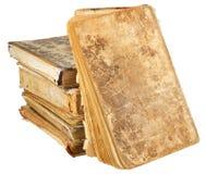 Alte Bücher der unterschiedlichen Form und der Farbe Stockfoto