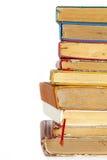 Alte Bücher des gebundenen Buches Stockfoto