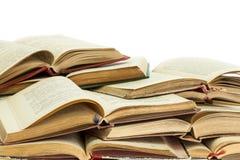 Alte Bücher des gebundenen Buches Lizenzfreie Stockbilder