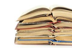 Alte Bücher des gebundenen Buches Lizenzfreies Stockbild