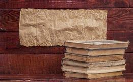 Alte Bücher des Stapels Stockfotografie