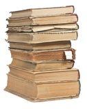 Alte Bücher in einem Stapel Stockbild