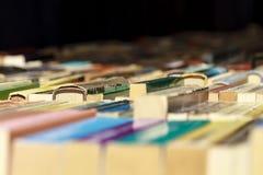 Alte Bücher für Verkauf Lizenzfreie Stockfotos