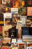 Alte Bücher für Verkauf Stockbilder
