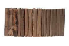 Alte Bücher in Folge Stockbilder