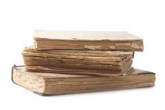 Alte Bücher getrennt Lizenzfreies Stockfoto