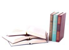 Alte Bücher getrennt Lizenzfreie Stockfotografie