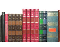 Alte Bücher getrennt Lizenzfreies Stockbild