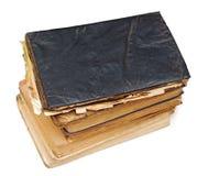 Alte Bücher getrennt auf Weiß Lizenzfreies Stockbild
