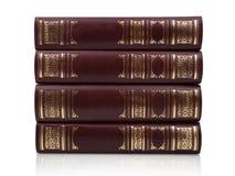 Alte Bücher getrennt auf weißem Hintergrund Lizenzfreie Stockfotografie