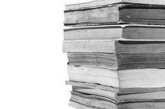 Alte Bücher getrennt auf weißem Hintergrund Lizenzfreie Stockbilder