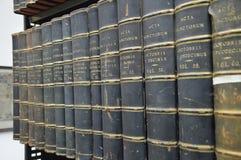 Alte Bücher im Latein Stockfoto