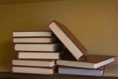 Alte Bücher im Regal in der Bibliothek Lizenzfreie Stockfotos