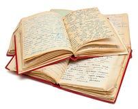 Alte Bücher mit Buchstaben Lizenzfreie Stockfotos
