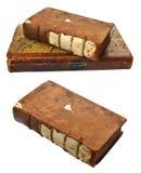 Alte Bücher mit schädigenden gebundenen Ausgaben Stockfotos