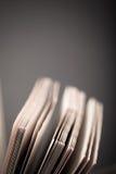 Alte Bücher Selektiver Fokus Flache Schärfentiefe getont Stockbild
