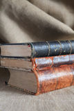 Alte Bücher StackOld-Buch-Stapel Lizenzfreie Stockfotografie