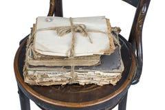 Alte Bücher und Papiere Lizenzfreies Stockbild