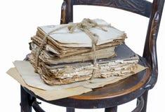 Alte Bücher und Papiere Lizenzfreies Stockfoto