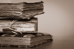 Alte Bücher und Platz für Ihren Text Lizenzfreies Stockbild
