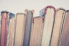 Alte Bücher, Weinlese bucht Nahaufnahme Lizenzfreie Stockbilder