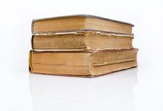 Alte Bücher zusammen angehäuft Stockfotos