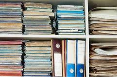 Alte Büro-Dateien Lizenzfreie Stockfotografie