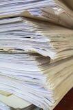 Alte Büropapiere Lizenzfreie Stockfotografie