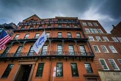 Alte Backsteinbauten auf Park-Straße, in Boston, Massachusetts Stockfoto