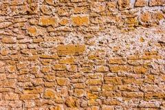 Alte Backsteinmauer in Alcudia, Majorca Stockbilder